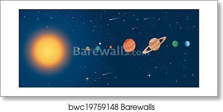 Incredible Solar System Diagram Art Print Barewalls Posters Prints Wiring 101 Capemaxxcnl