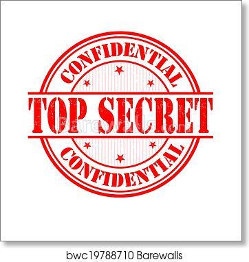 Top Secret Stamp Art Print