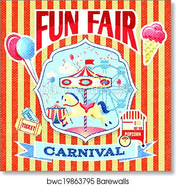 art print of vintage carnival poster template barewalls posters