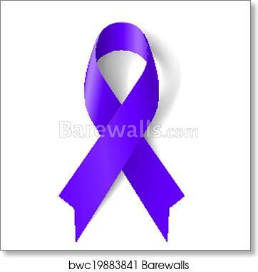 Art Print Of Purple Ribbon Barewalls Posters Prints Bwc19883841