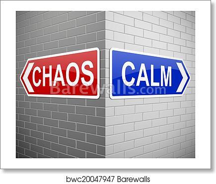 Chaos Or Calm Art Print Poster