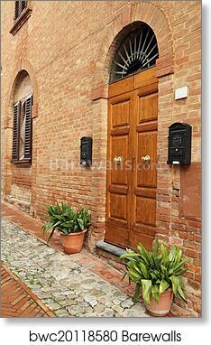 Art Print of Picturesque italian doorway in tuscan borgo Certaldo Alto & Art Print of Picturesque italian doorway in tuscan borgo Certaldo ...