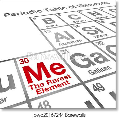 Art print of me the rarest element words on a periodic table to art print of me the rarest element words on a periodic table to illustrate self confidence and competitive advantage of unique qualities urtaz Gallery