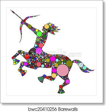 Sagittarius sign, Art Print | Barewalls Posters & Prints | bwc20410256