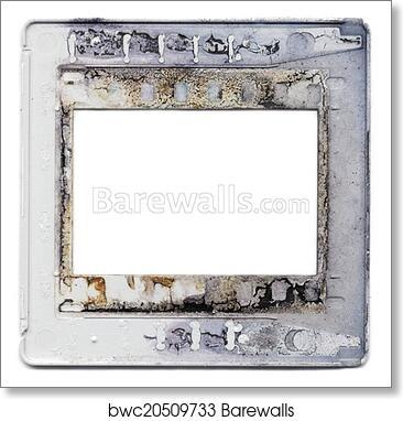 Art Print of Old plastic slide film mount frame | Barewalls Posters ...