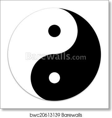 Yin And Yang Symbol Art Print Barewalls Posters Prints