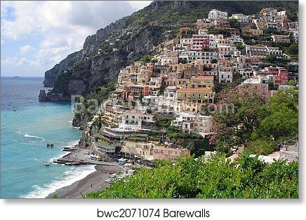 Positano At The Amalfi Coast Art Print Poster
