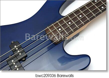 Art Print Of Bass Guitar Closeup 1 Barewalls Posters Prints