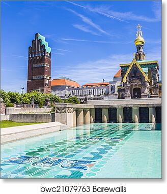 Darmstadt Swimming Pool print of mathildenhoehe in darmstadt jugendstil nouveau