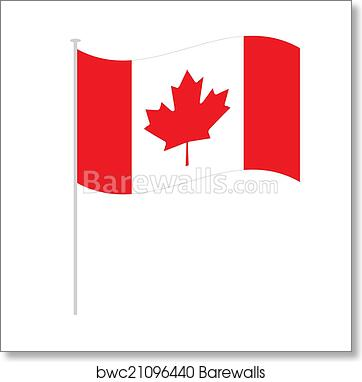 Canadian Flag Art Print Poster