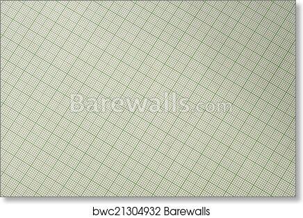 art print of millimeter paper graph paper plotting paper