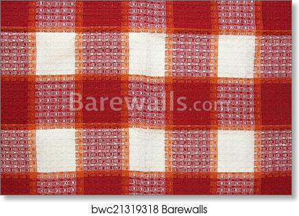 Art Print Of Red Checkered Tablecloth Texture | Barewalls Posters U0026 Prints  | Bwc21319318