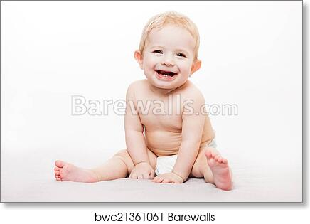 Art Print Of Little Cute Smiling Newborn Baby Child Barewalls