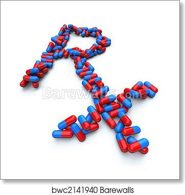 Art Print Of Rx Pharmacy Symbol Capsule Pills Barewalls
