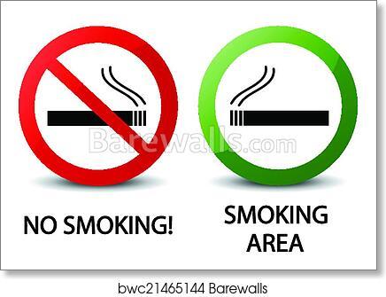 photo about Printable No Smoking Signs identify No cigarette smoking and using tobacco regional indicators artwork print poster