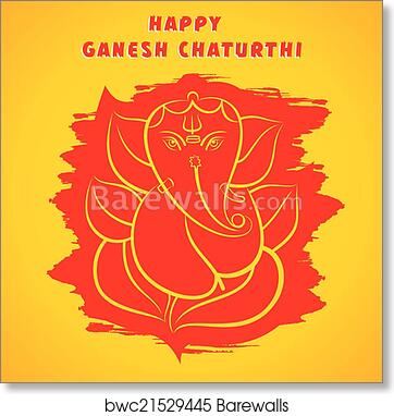 Art print of happy ganesh chaturthi greeting barewalls posters art print of happy ganesh chaturthi greeting m4hsunfo