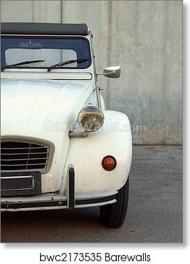 Vintage French Citroen Deux Chevaux Car Tours France European Fine Art Photography Photo Print