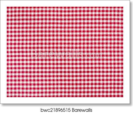 Red And White Checkered Tablecloth Art Print Barewalls Posters Prints Bwc21896515