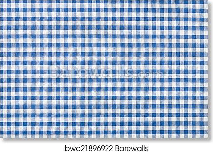 Genial Art Print Of Blue And White Checkered Tablecloth