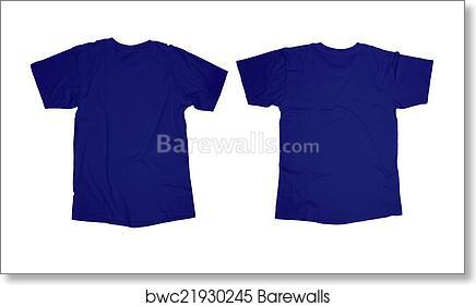 Art Print Of Blue T Shirt Template