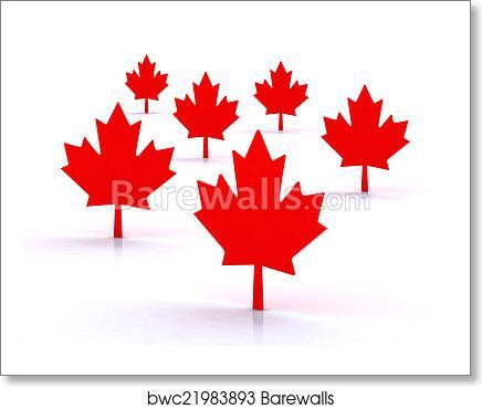 Art Print Of 3d Maple Leafs Barewalls Posters Prints Bwc21983893