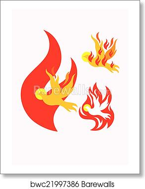 art print of holy spirit fire barewalls posters prints bwc21997386
