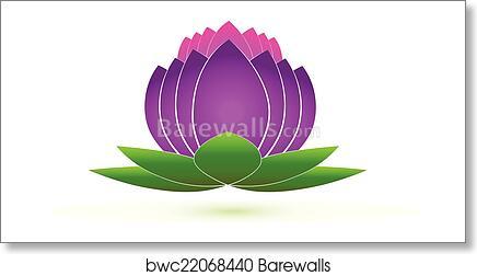 Lotus Flower Icon Logo Vector Art Print Barewalls Posters