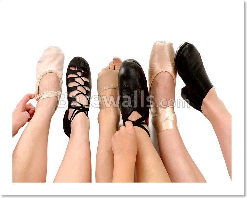 Styles Of Dance Shoes In Feet Art Printcanvas Home Decor Wall Art