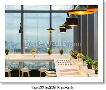 Lamp Design In Dining Room Art Print