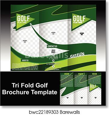 Art Print Of Tri Fold Golf Brochure Template Barewalls Posters - Golf brochure template