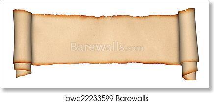 art print of medieval parchment scroll barewalls posters prints