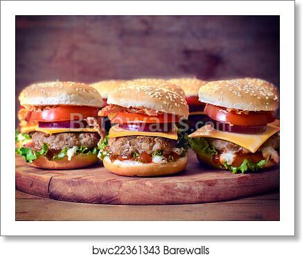 Mini Beef Burgers Art Print Barewalls Posters Prints Bwc22361343