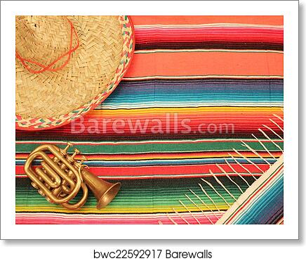 Art Print Of Mexican Cinco De Mayo Fiesta Mariachi Background