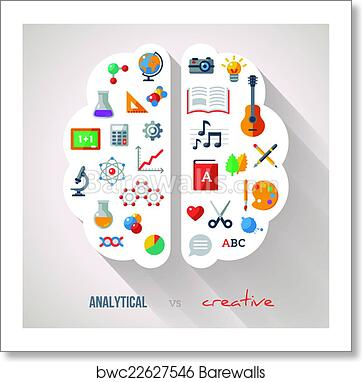 Art Print Of Creative Brain Idea