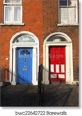Art Print of Typical colorful doors houses Dublin Ireland Europe & Art Print of Typical colorful doors houses Dublin Ireland Europe ...