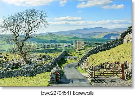 Art print POSTER Rolling Yorkshire Farmland
