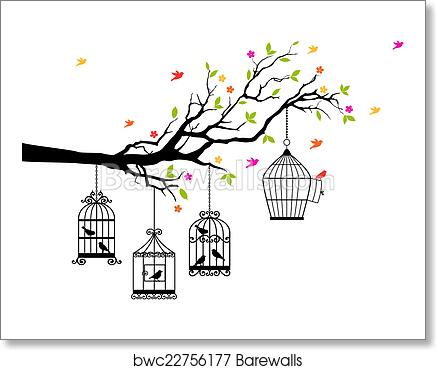 Bird Line Drawing, Birdcage, Stencil, Silhouette, Wall Decal, Logo, Aviary,  Bird Houses transparent background PNG clipart   HiClipart