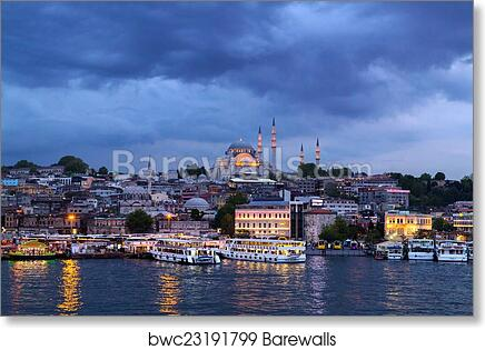 Art Print Of Ottoman Mosque In Istanbul Barewalls Posters Prints