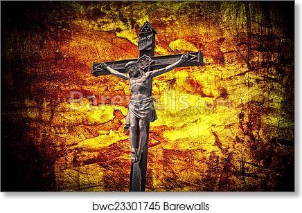 Jesus on the Cross 8 x 10/'/' Fine Art Print Watercolor