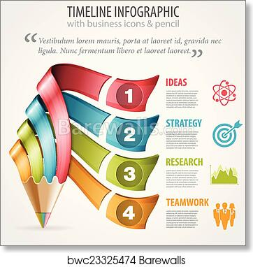 Art Print Of Timeline Infographic