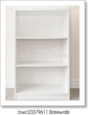 Empty White Bookshelf Art Print