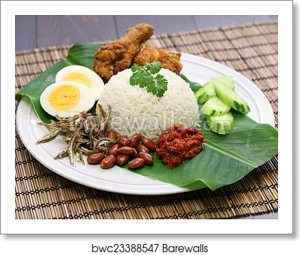 Nasi Lemak Malaysian Coconut Rice Art Print Barewalls Posters