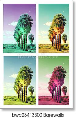 art print of pop art palm trees barewalls posters prints