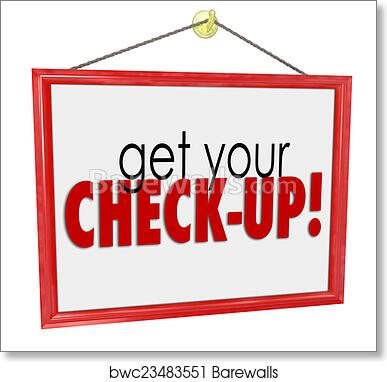 art print of get your check up doctor office sign physical exam