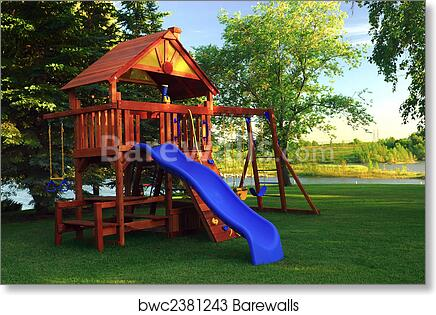 Backyard Play Structure art print of back yard play structure | barewalls posters & prints