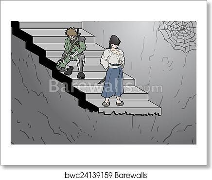 Stair Cartoon Art Print Barewalls Posters Prints Bwc24139159
