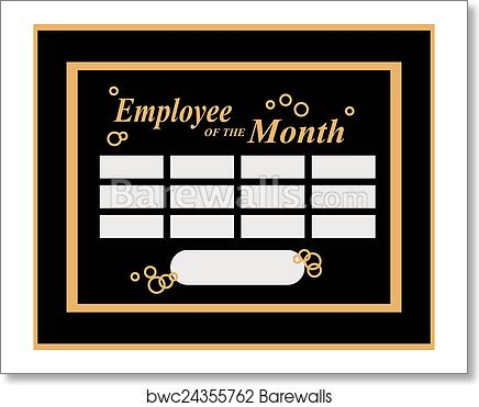 art print of employee of the month barewalls posters prints