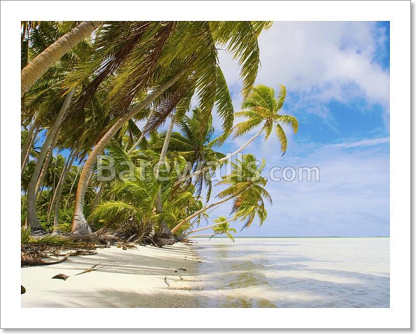 Tropical Beach Scene Art Print/Canvas Print Home Decor
