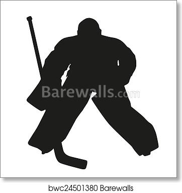 Hockey Goalie Vector Silhouette Art Print Barewalls Posters
