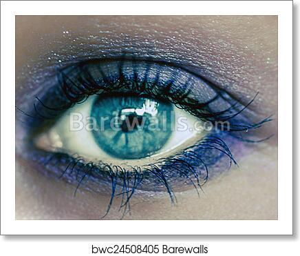 Blue Eye Makeup Beautiful Eyes Make Up Macro Art Print Barewalls Posters Prints Bwc24508405